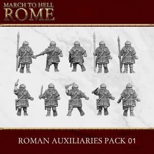 Imperial Rome Army AUXILIARIE PACK 01 3d printed miniatures