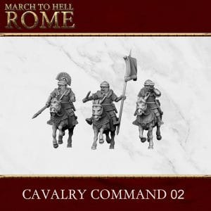 Imperial Rome Army CAVALRY COMMAND 02 3d printed miniatures