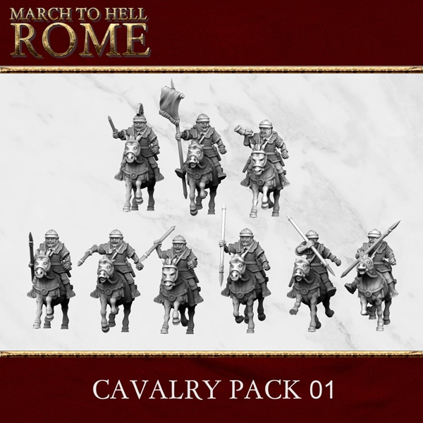 Imperial Rome Army CAVALRY PACK 01 3d printed miniatures