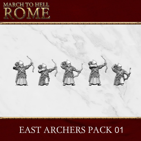 Imperial Rome Army EAST ARCHERS PACK 01 3d printed miniatures