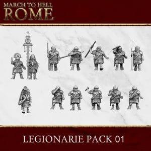 Imperial Rome Army LEGIONARIE PACK 01 3d printed miniatures