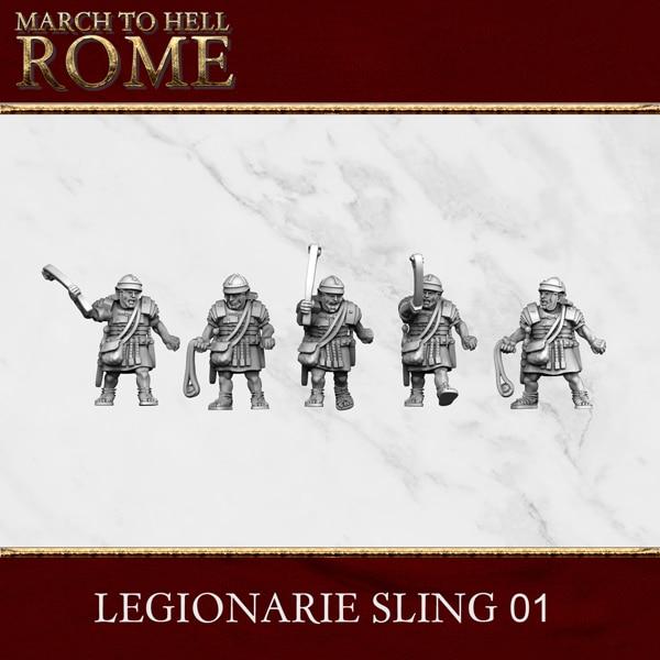 Imperial Rome Army LEGIONARIE SLING 01 3d printed miniatures