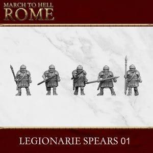 Imperial Rome Army LEGIONARIE SPEAR 01 3d printed miniatures