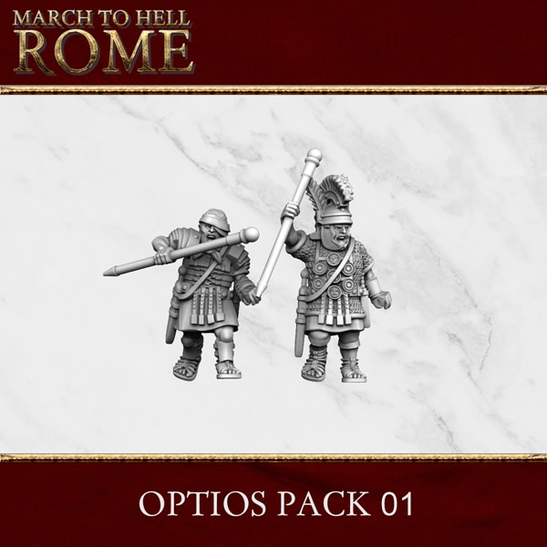 Imperial Rome Army OPTIOS PACK 01 3d printed miniatures