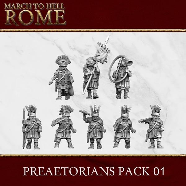 Imperial Rome Army PRAETORIANS PACK 01 3d printed miniatures
