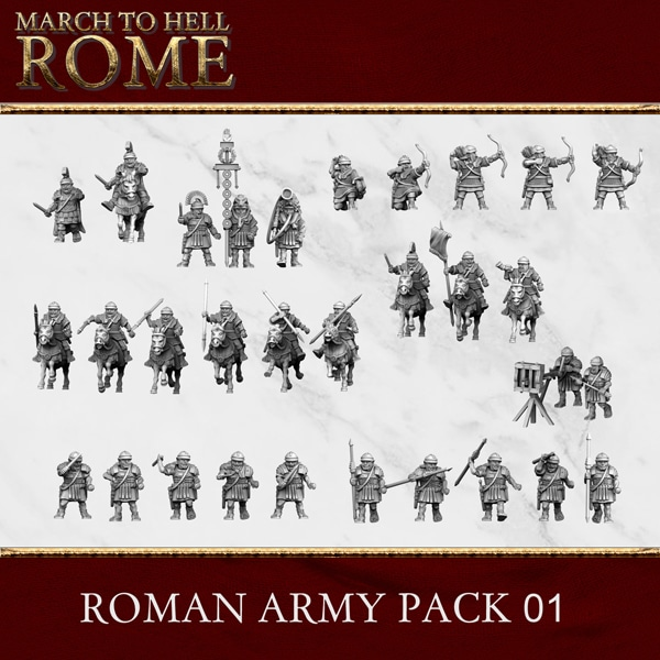 Imperial Rome Army ROMAN ARMY PACK 01 3d printed miniatures