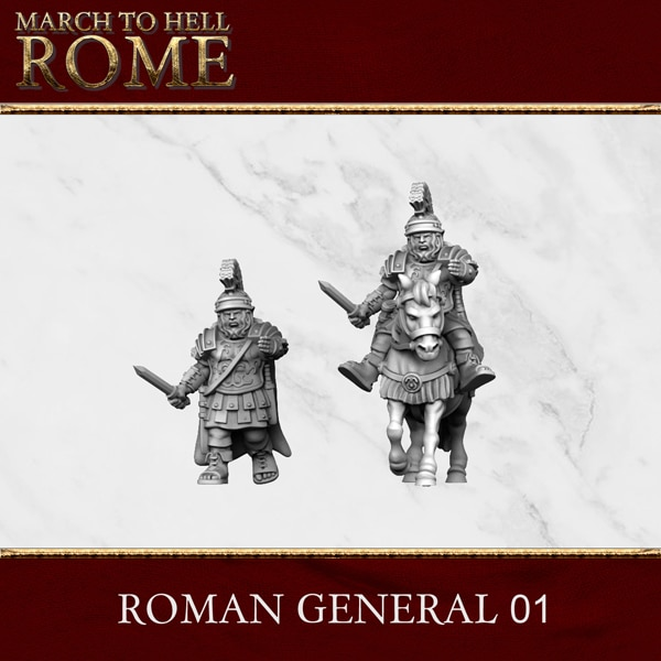 Imperial Rome Army ROMAN GENERAL 01 3d printed