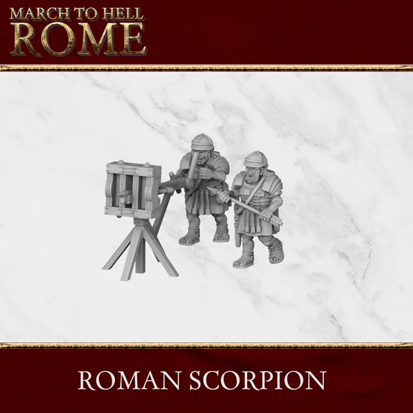 Imperial Rome Army ROMAN SCORPION 3d printed