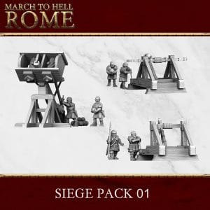Imperial Rome Army SIEGE PACK 01 3d printed