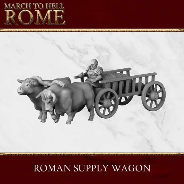 Imperial Rome Army SUPPLY WAGON 3d printed