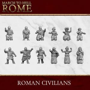Roman Games ROMAN CIVILIANS 3d printed miniatures