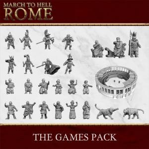 Roman Games THE GAMES PACK 3d printed miniatures