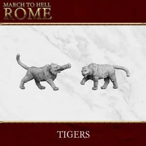 Roman Games TIGERS 3d printed miniatures
