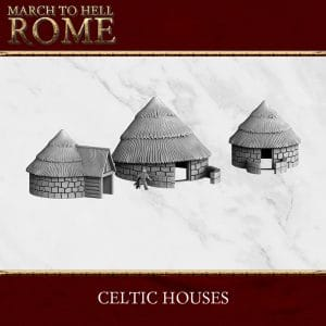 CELTS CELTIC HOUSES X 3 3dprinted