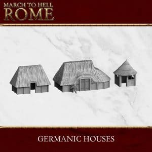 GERMANIC TRIBES GERMANIC HOUSES X3 3d printed