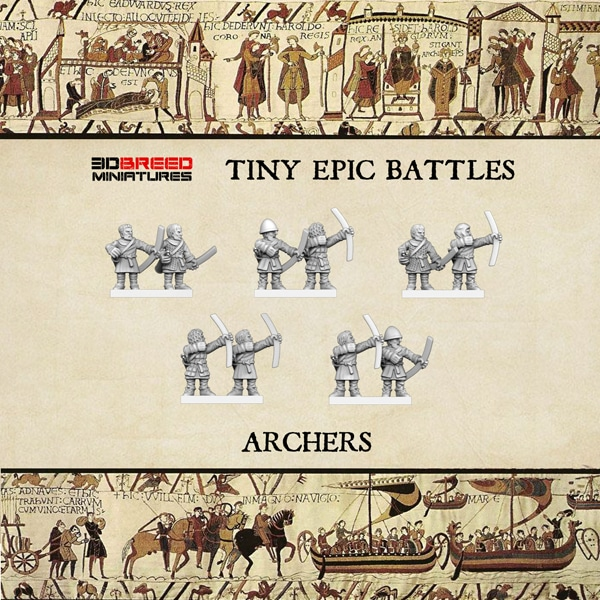 ARCHERS 3d printed miniatures