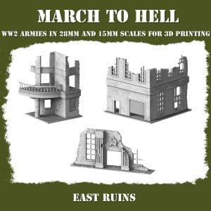 EAST RUINS Red Army 3d printed buildings