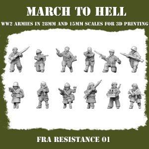 FRA RESISTANCE 01 3d printed miniatures
