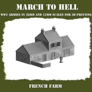 FRENCH FARM ww2 3d printed building