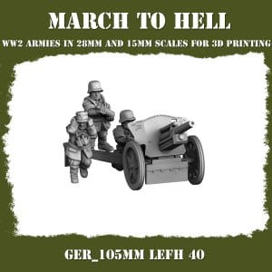 GER_105mm LeFH 40 ww2 cannon 3d printed