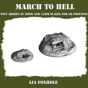 IJA FOXHOLE ww2 3d printed terrain