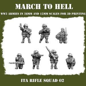 ITA RIFLE SQUAD 02 3d printed miniatures
