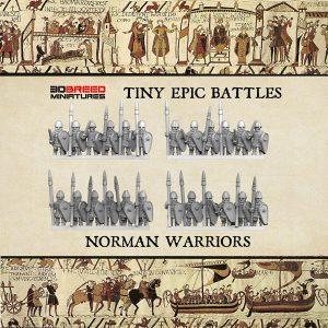 NORMAN WARRIORS 3d printed miniatures