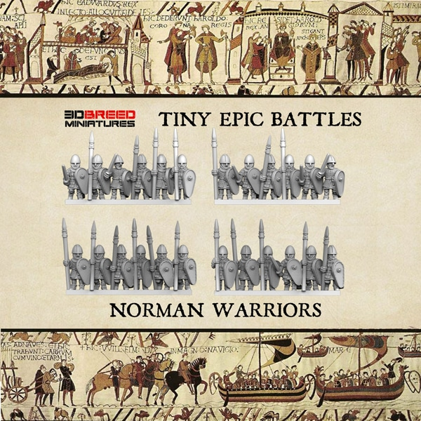 NORMAN WARRIORS 3d printed miniatures