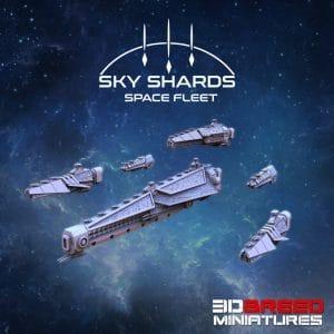 SPACE FLEET SHOGUNATE FLEET 3d printed space ship