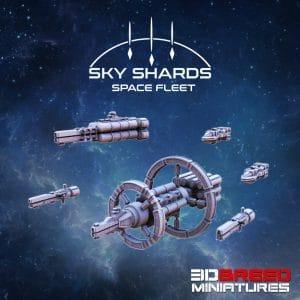 SPACE FLEET USR FLEET 3d printed space ship
