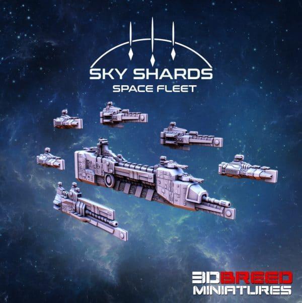 SPACE FLEET RED STAR FLEET 3d printed space ship