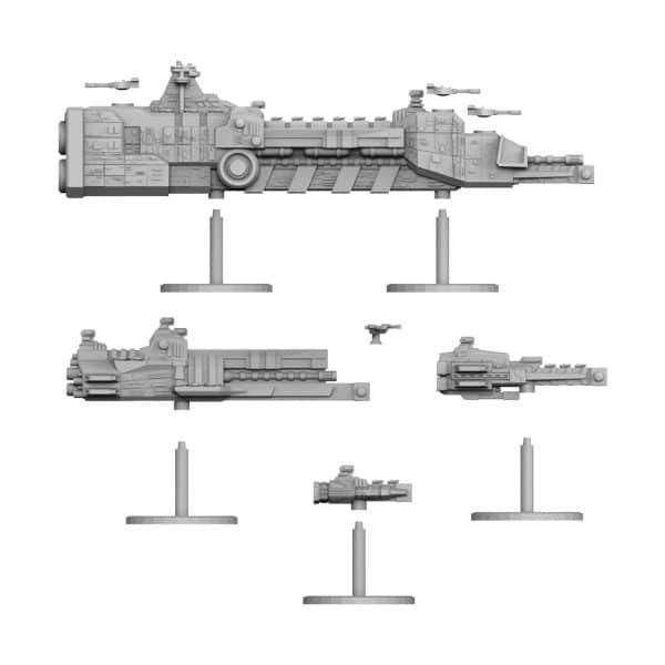 REDSTAR FLEET parts 3d printed