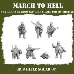 RUS RIFLE SQUAD 02 3d printed miniatures