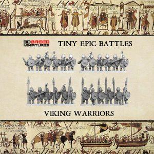 VIKING WARRIORS 3d printed miniatures