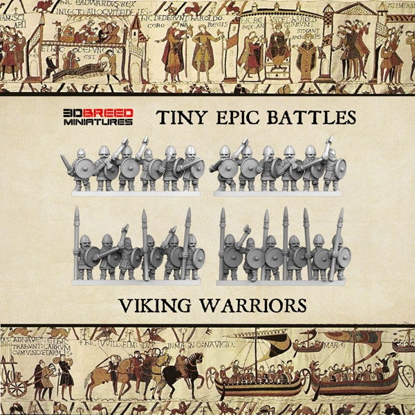 VIKING WARRIORS 3d printed miniatures