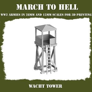 WATCH TOWER ww2 3d printed