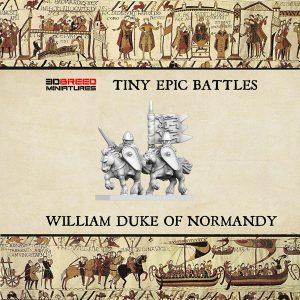 WILLIAM DUKE OF NORMANDY 3d printed miniature