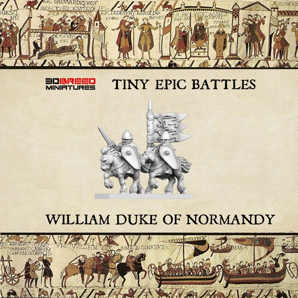 WILLIAM DUKE OF NORMANDY 3d printed miniature