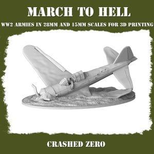 crashed zero ww2 3d printed