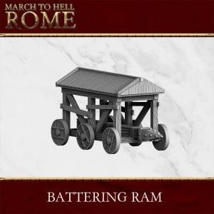BATTERING RAM 3d printed miniature
