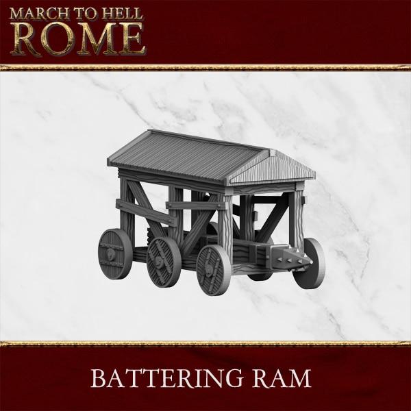 BATTERING RAM 3d printed miniature