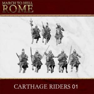 CARTHAGE RIDERS PACK 01 3d printed miniatures