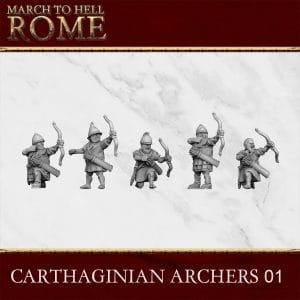 CARTHAGINIAN ARCHERS 01 3d printed miniatures