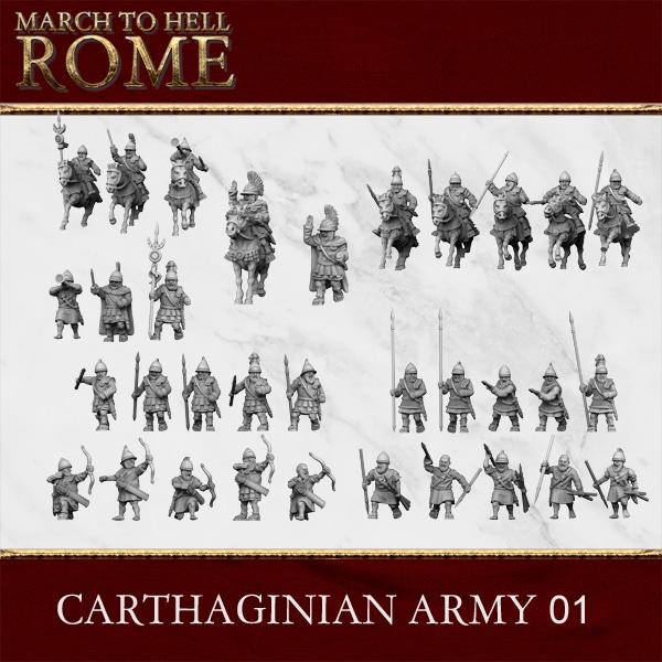 CARTHAGINIAN ARMY 01 3d printed miniatures