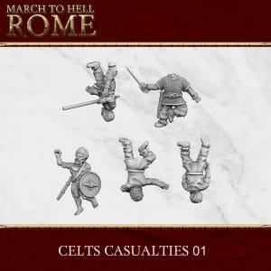 CELTS CASUALTIES 01 3d printed miniatures