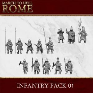CARTHGINIAN INFANTRY PACK 01 3d printed miniatures