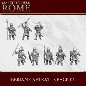 IBERIAN CAETRATUS PACK 01 3d printed miniatures