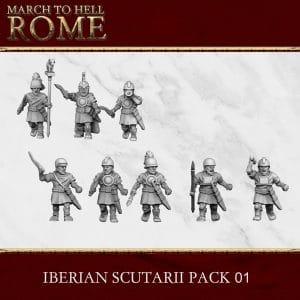 IBERIAN SCUTARII PACK 01 3d printed miniatures