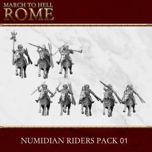 NUMIDIAN RIDERS PACK 01 3d printed miniatures
