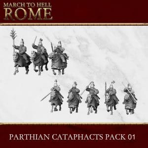 PARTHIAN CATAPHACTS PACK 01 3d printed miniatures